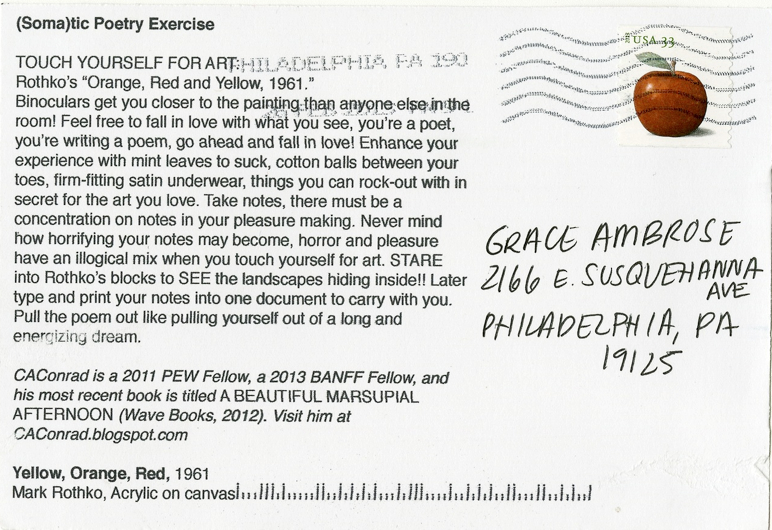 Postcard Back