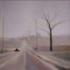 March (Fields) oil on linen 2012 22 x 22""
